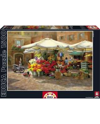 Puzzle Educa - Flower Market, 1500 piese (16010)