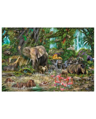 Puzzle Educa - African jungle, 2000 piese, include lipici puzzle (16013)