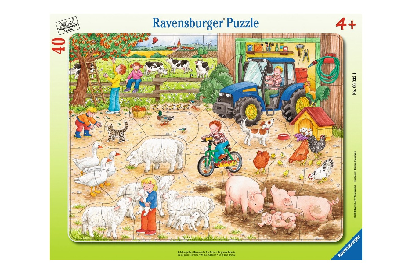 Puzzle Ravensburger - La Ferma Cea Mare, 40 piese (06332)