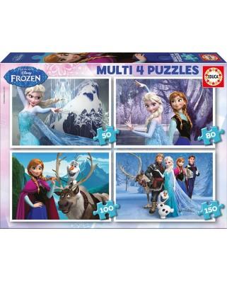 Puzzle Educa - Frozen, 50/80/100/150 piese (16173)