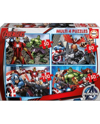 Puzzle Educa - Avengers, 50/80/100/150 piese (16331)