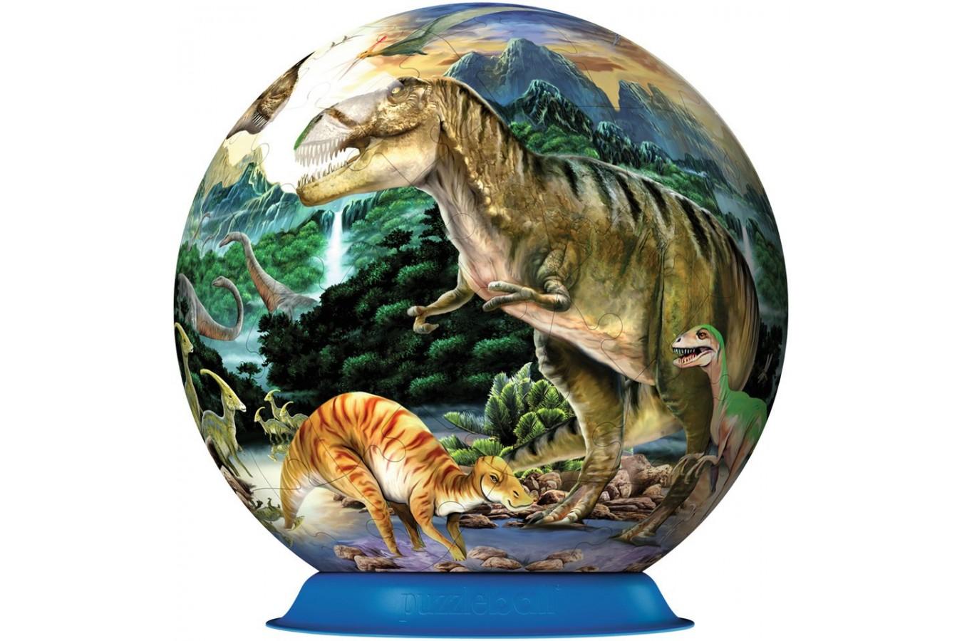 Puzzle glob Ravensburger - Dinozauri, 72 piese (12127)