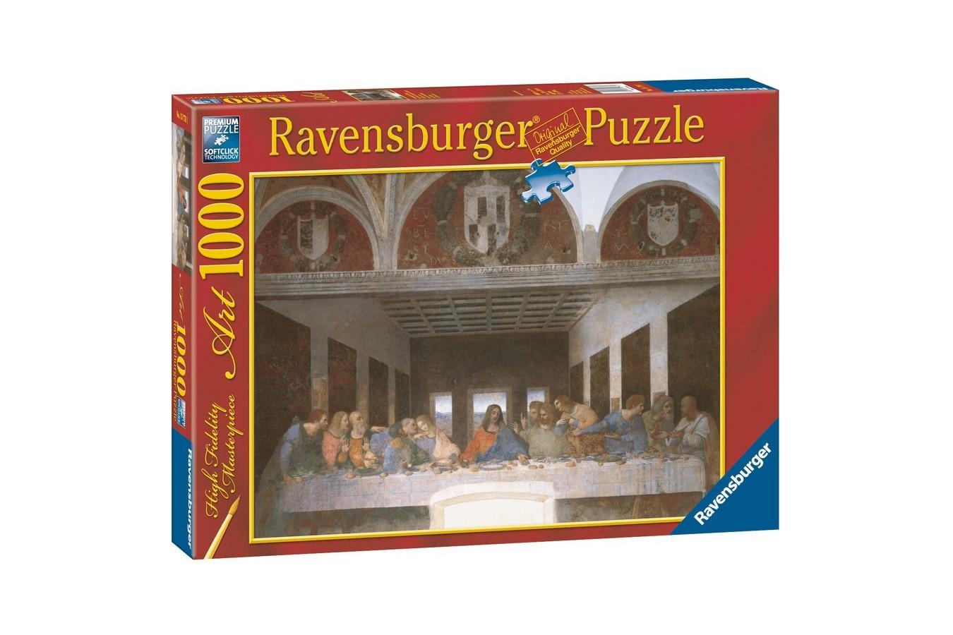 Puzzle Ravensburger - Leonardo Da Vinci: Leonardo Da Vinci - Cina Cea De Taina, 1.000 piese (15776)
