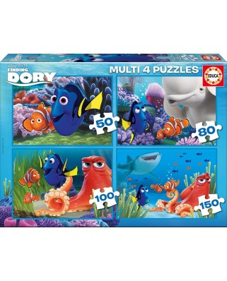 Puzzle Educa - Finding Dory, 50/80/100/150 piese (16700)