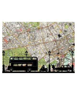 Puzzle Educa - Rush Hour, 500 piese, include lipici puzzle (16731)