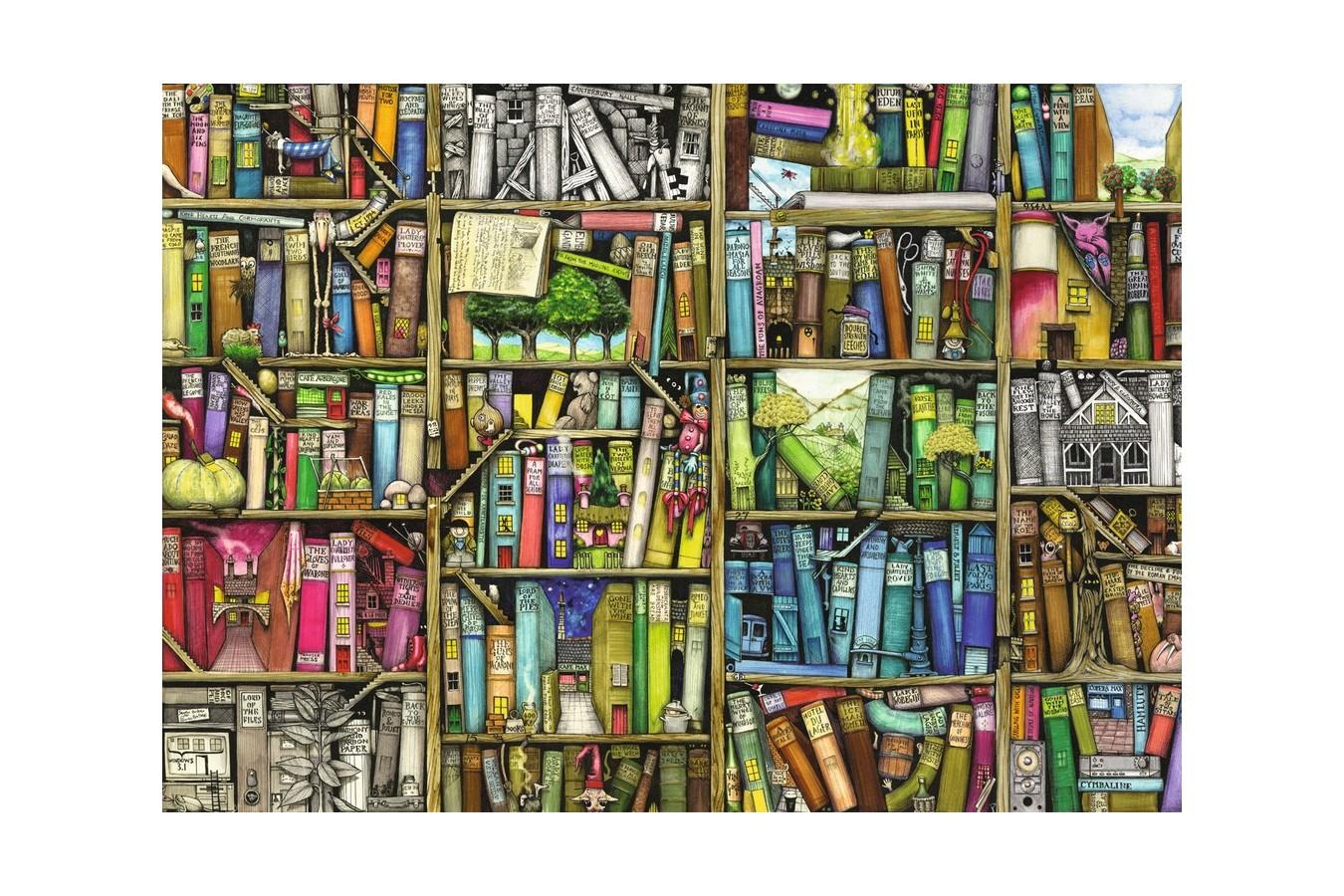 Puzzle Ravensburger - Colin Thompson: Libraria Bizara, 1000 piese (19137)