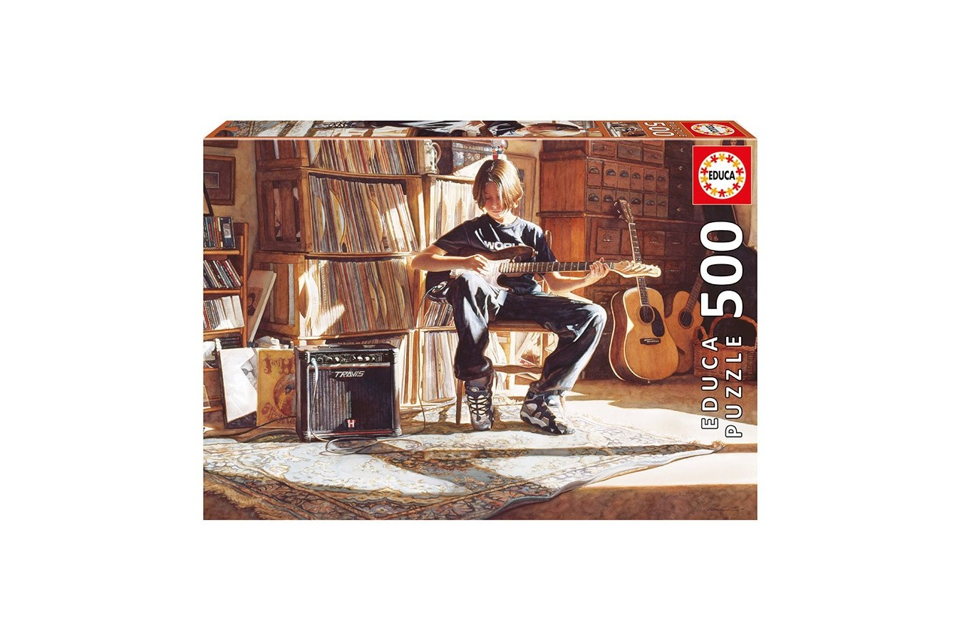Puzzle Educa - It's his Time Now, 500 piese, include lipici puzzle (16733)