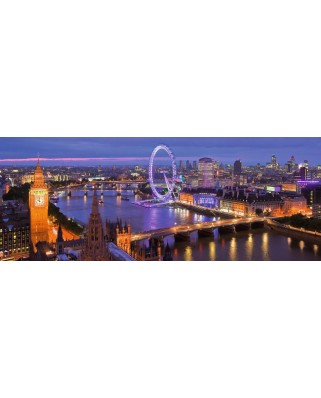 Puzzle panoramic Ravensburger - Londra Noaptea, 1.000 piese (15064)