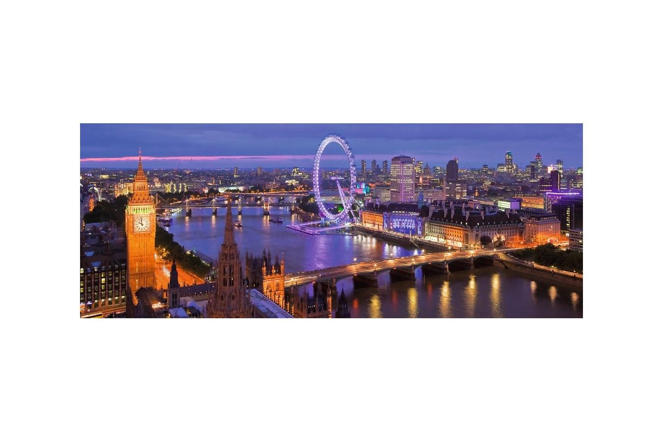 Puzzle panoramic Ravensburger - Londra Noaptea, 1000 piese (15064)