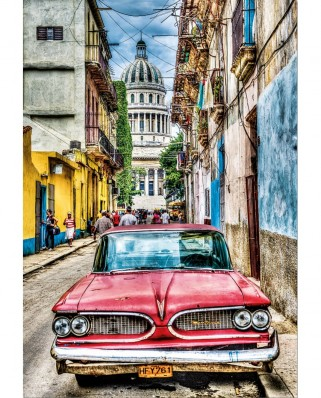Puzzle Educa - Vintage Car in Old Havana, 1000 piese, include lipici puzzle (16754)