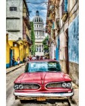 Puzzle Educa - Vintage Car in Old Havana, 1000 piese, include lipici puzzle (16754)