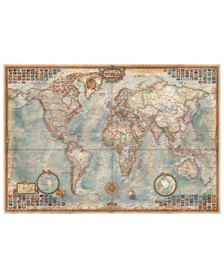 Puzzle mini Educa - Ancient World Map, 1000 piese, include lipici puzzle (16764)