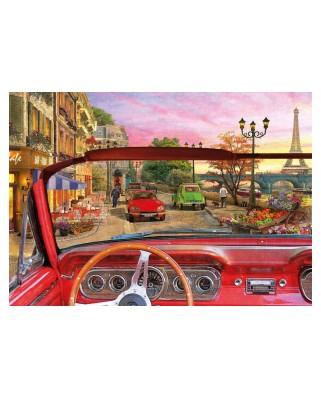 Puzzle Educa - Dominic Davison: Paris in a Car, 1500 piese, include lipici puzzle (16768)