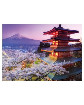 Puzzle Educa - Mount Fuji, Japan, 2000 piese, include lipici puzzle (16775)