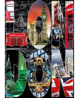 Puzzle Educa - Collage - London, 1000 piese, include lipici puzzle (16786)