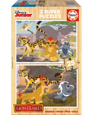 Puzzle din lemn Educa - The Lion Guard, 2x25 piese (16795)
