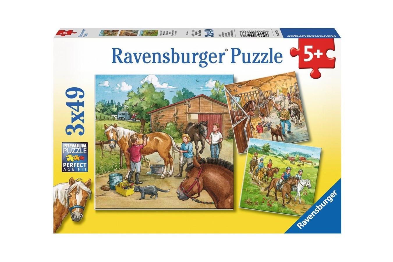 Puzzle Ravensburger - Lumea Cailor , 3x49 piese (09237)