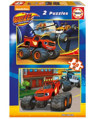 Puzzle Educa - Blaze and The Monster Machines, 2x48 piese (16821)