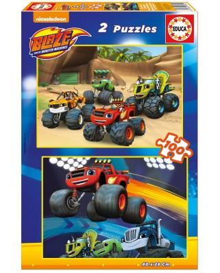 Puzzle Educa - Blaze and The Monster Machines, 2x100 piese (16822)