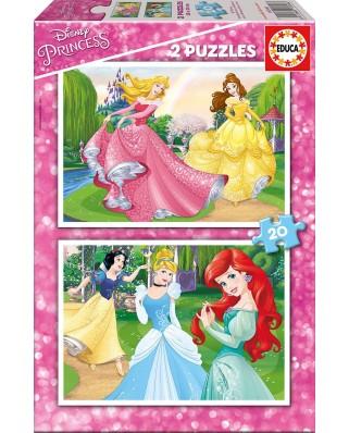 Puzzle Educa - Disney Princess, 2x20 piese (16846)
