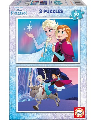 Puzzle Educa - Frozen, 2x20 piese (16847)