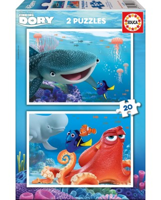 Puzzle Educa - Finding Dory, 2x20 piese (16878)