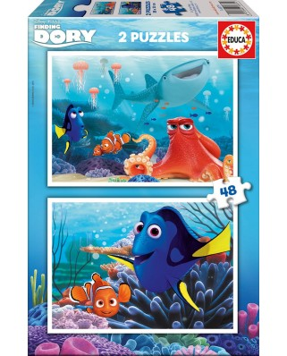 Puzzle Educa - Finding Dory, 2x48 piese (16879)