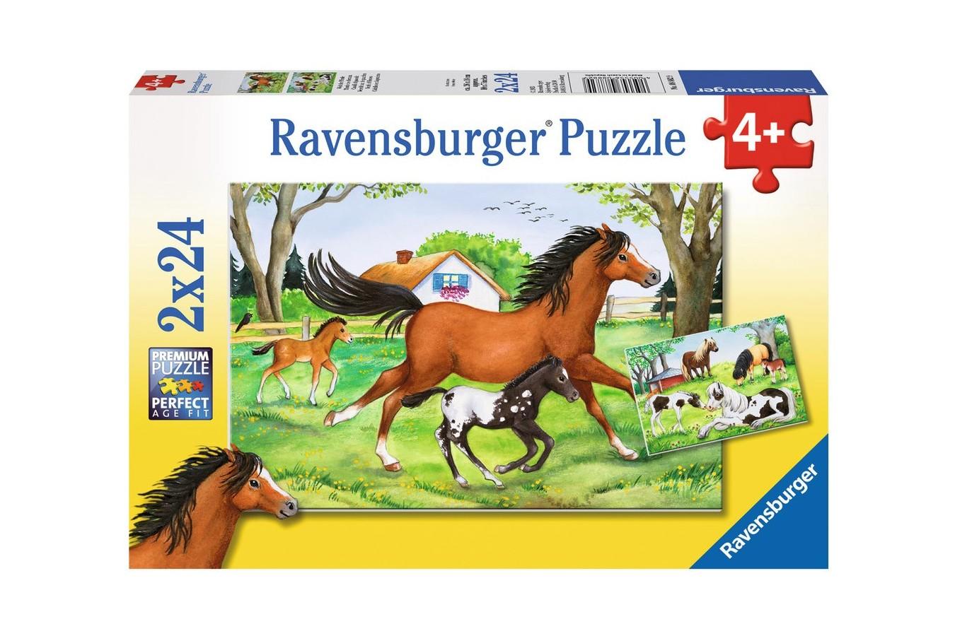 Puzzle Ravensburger - Lumea Cailor, 2x24 piese (08882)