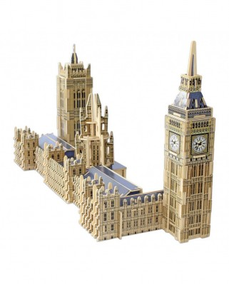 Puzzle 3D din lemn Educa - Big Ben & Parliament, 156 piese (16971)