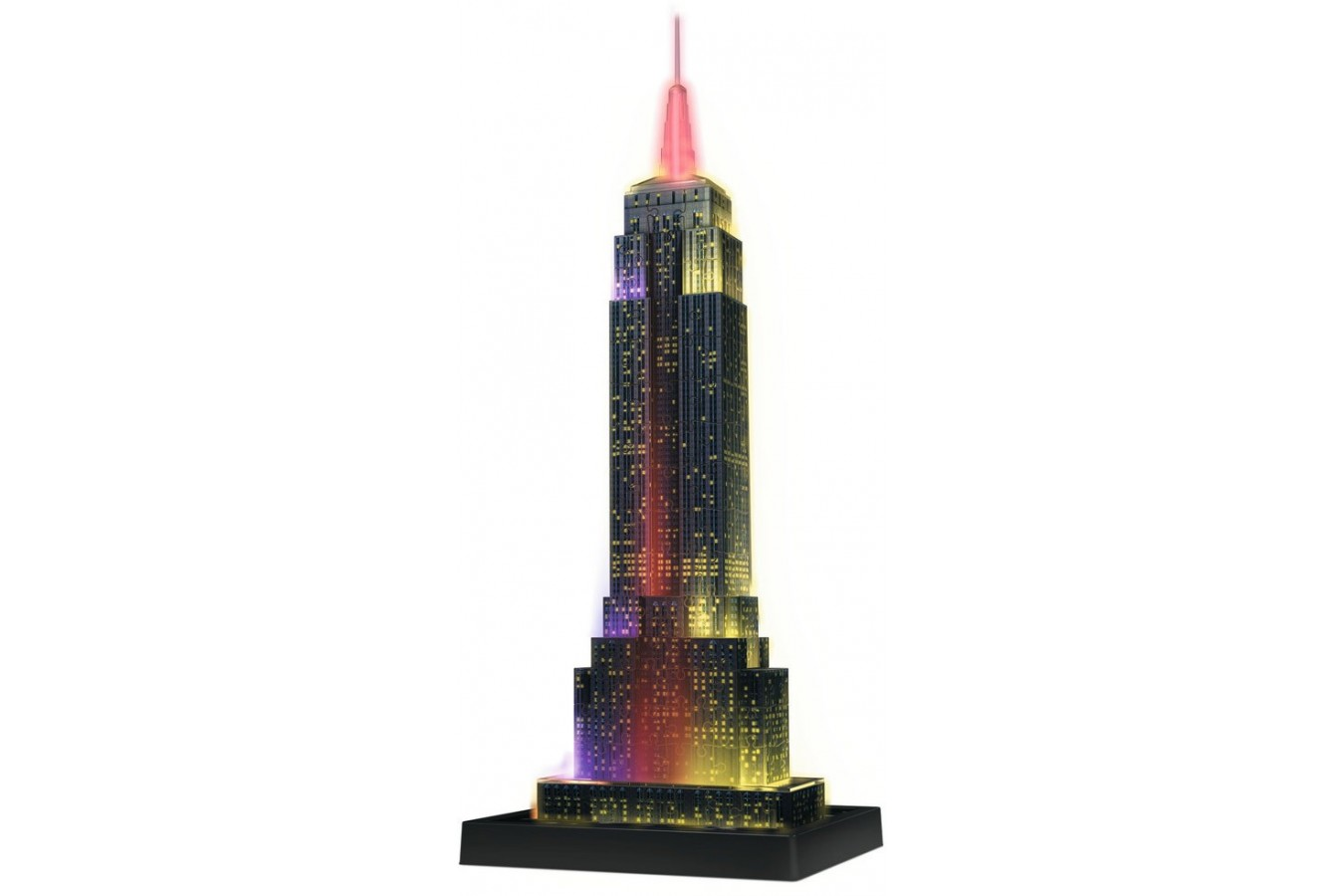 Puzzle 3D Ravensburger - Empire State Building - Lumineaza Noaptea, 216 piese (12566)