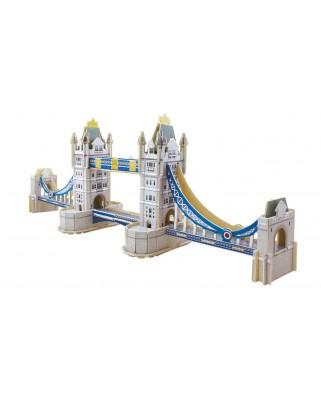 Puzzle 3D din lemn Educa - Tower Bridge, 92 piese (16999)