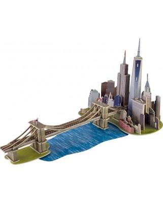 Puzzle 3D din lemn Educa - Brooklyn Bridge, Manhattan Dream, 160 piese (17000)