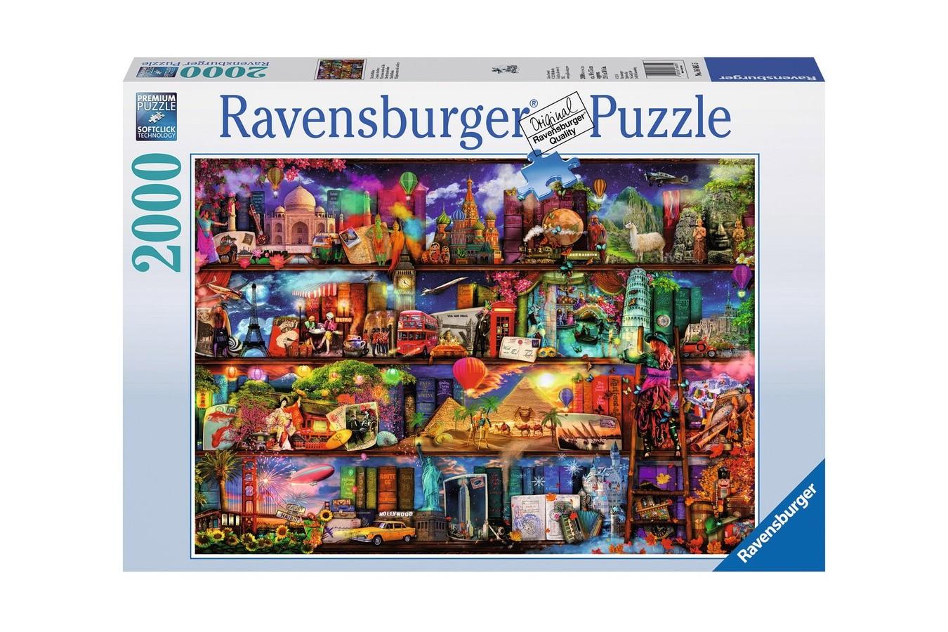 Puzzle Ravensburger - Aimee Stewart: Lumea Cartilor, 2.000 piese (16685)
