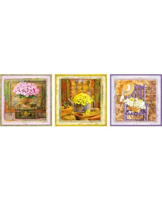 Puzzle Educa - Enchanted Moments, Gail Marie, 2x500 piese, include lipici puzzle (17095)