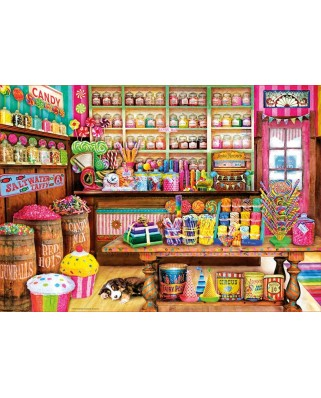 Puzzle Educa - The Candy Shop, 1000 piese, include lipici puzzle (17104)