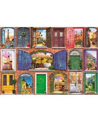 Puzzle Educa - Dominic Davison: Doors of Europe, 1500 piese, include lipici puzzle (17118)