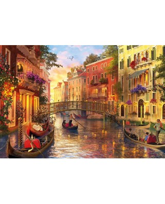Puzzle Educa - Dominic Davison: Sunset in Venice, 1500 piese, include lipici puzzle (17124)