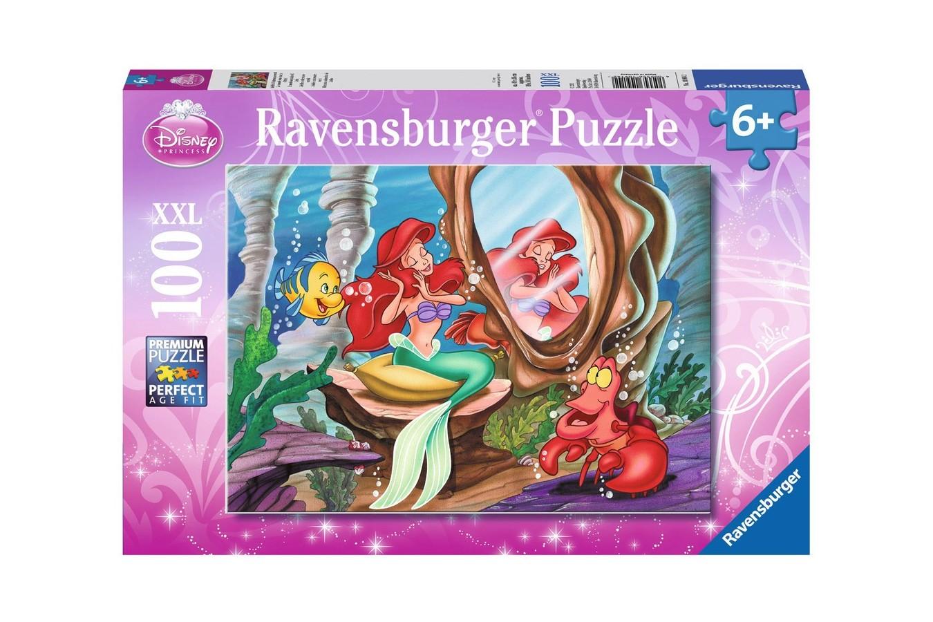 Puzzle Ravensburger - Lumea Subacvatica A Lui Ariel, 100 piese (10914)