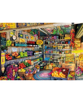 Puzzle Educa - Aimee Stewart: The Farmers Market, 2000 piese, include lipici puzzle (17128)