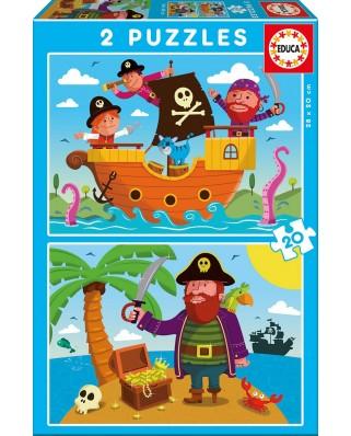 Puzzle Educa - Pirates, 2x20 piese (17149)