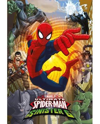 Puzzle Educa - Spider-Man, 500 piese, include lipici puzzle (17155)