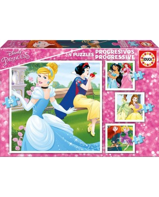 Puzzle Educa - Disney Princess, 12/16/20/25 piese (17166)