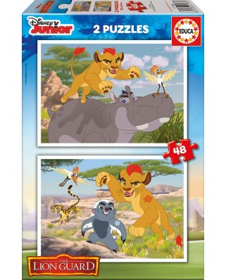 Puzzle Educa - The Lion Guard, 2x48 piese (17168)