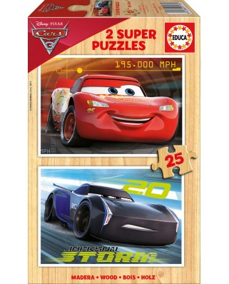 Puzzle Educa - Cars 3, 2x25 piese (17173)
