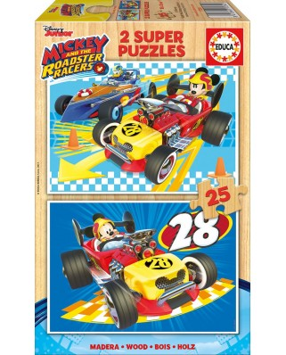 Puzzle Educa - Mickey and the Roadster Racers, 2x25 piese (17234)