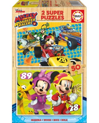 Puzzle Educa - Mickey and the Roadster Racers, 2x50 piese (17236)
