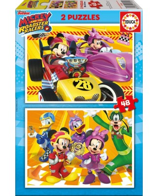 Puzzle Educa - Mickey and the Roadster Racers, 2x48 piese (17239)