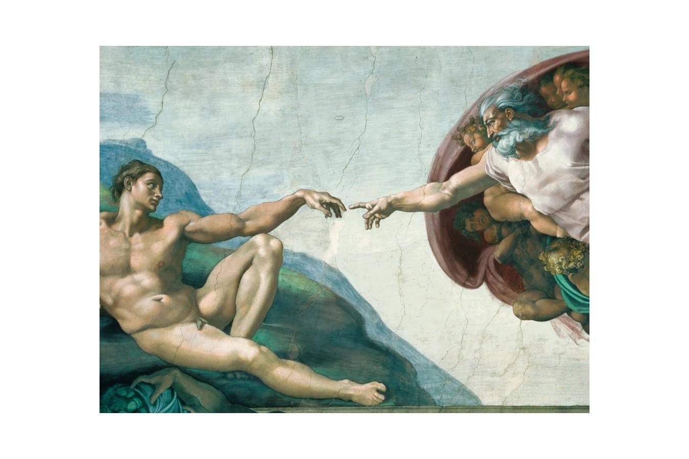 Puzzle Ravensburger - Michelangelo: Michelangelo - Crearea Lui Adam, 1.000 piese (15540)