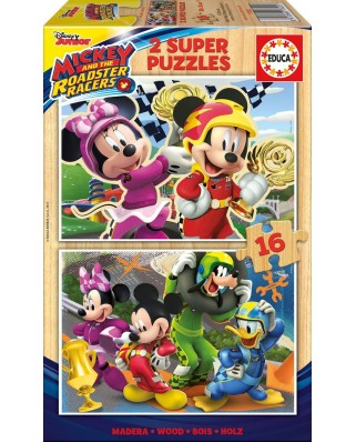 Puzzle Educa - Mickey and the Roadster Racers, 2x16 piese (17622)