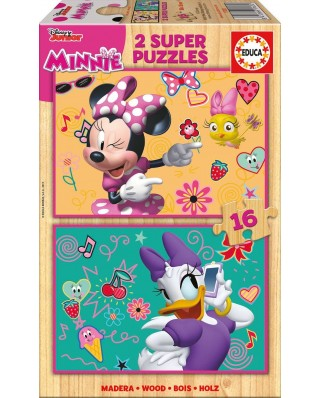 Puzzle Educa - Minnie Happy Helpers, 2x16 piese (17623)
